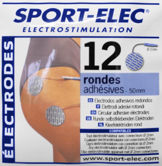 electrodos redondos 50 mm conexión 2mm