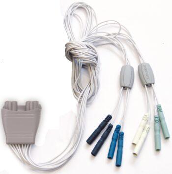 Conector con 8 cables para electroestimulador multisport pro precision 4 canales marca sport-elec
