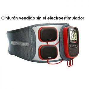 Cinturón abdominal ergonomico para electroestimulador sport-elec snaps 3,5 mm