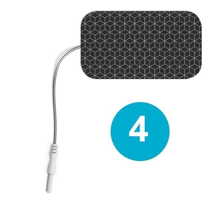 4 ELECTRODOS COMPATIBLES CONEXIÓN 2 mm RECTANGULARES 89 X 50 mm