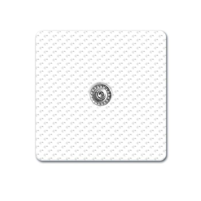 ELECTRODOS ADHESIVOS CUADRADOS 50 X 50 mm 1 SNAP (clip) de 3,5 mm COMPATIBLES ELECTROESTIMULADORES DE MARCA COMPEX - CEFAR - BEURER - CHATTANOOGA...