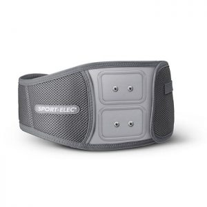 Cinturón abdominal ergonómico para electroestimuladores con módulos (snaps).