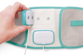 Cinturón electroestimulacion abdominal ergonómico snaps 3,5 mm color verde