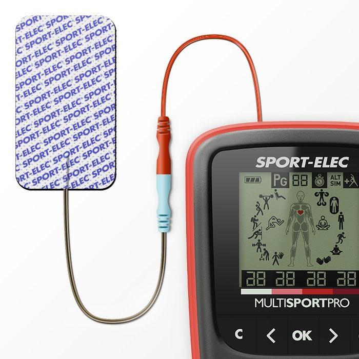 ELECTROESTIMULADOR MUSCULAR MULTISPORTPRO SPORT-ELEC FILAIRE CABLES 4 CANALES 14 PROGRAMAS