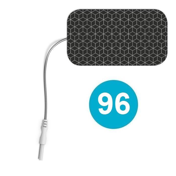 96 ELECTRODOS COMPATIBLES CONEXIÓN 2 mm RECTANGULARES 89 X 50 mm