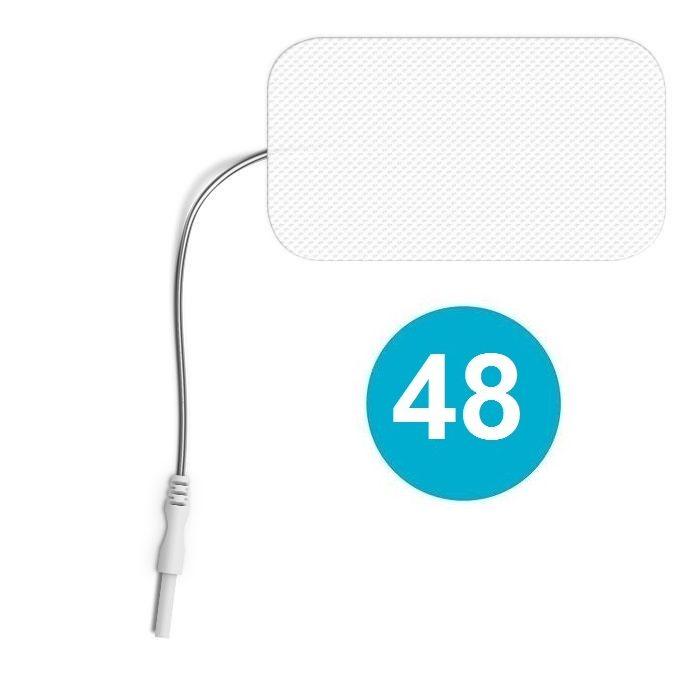 48 ELECTRODOS COMPATIBLES CONEXIÓN 2 mm RECTANGULARES 89 X 50 mm