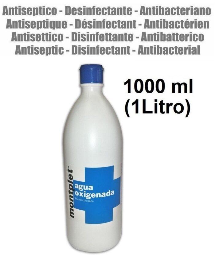 1000 ml (1 litro) AGUA OXIGENADA ESTABILIZADA 16 VOL. DESINFECTANTE PEROXIDO HIDROGENO
