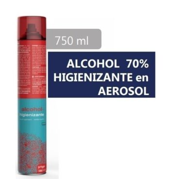 ALCOHOL 70º SANITARIO HIGIENIZANTE 750 ML. DESINFECTANTE SPRAY AEROSOL