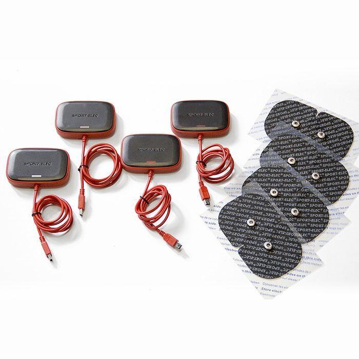 4 módulos de sustitución para el électroestimulador MultisportPro mas 4 electrodos