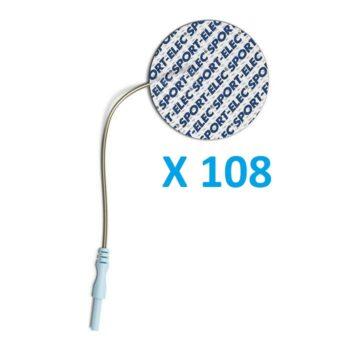 108 ELECTRODOS ADHESIVOS REDONDOS DIÁMETRO 50 mm SPORT-ELEC COMPATIBLES MULTIMARCAS