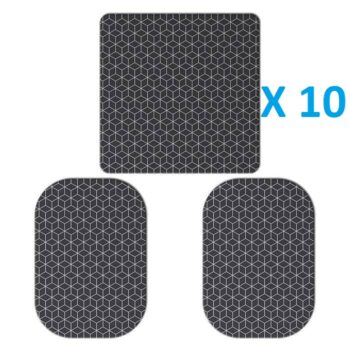 10 ELECTRODOS ADHESIVOS 10 (100 X 100 mm) + 20 (110 X 70 mm) COMPATIBLES SLENDERTONE
