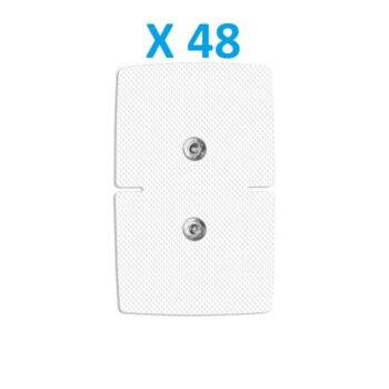 48 ELECTRODOS ADHESIVOS RECTANGULARES 110 X 71 mm MULTIMARCAS COMPATIBLES COMPEX CEFAR